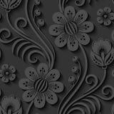 Floral 3d seamless pattern. Elegant 3d seamless floral pattern. Vector Illustration Royalty Free Stock Image