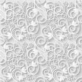 Floral 3d White Paper Pattern Background. Vector illustration. EPS10 Royalty Free Stock Image