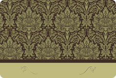 Floral Damask Card Royalty Free Stock Photography