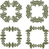 Floral Damask Frames Royalty Free Stock Image