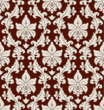 Floral damask pattern Stock Photography