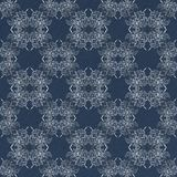 Floral damask pattern on grunge background stock photography