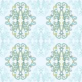 Floral damask seamless lace pattern. Vintage seamless baroque wallpaper. Royalty Free Stock Photos