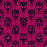 Floral  damask  seamless ornamental background Royalty Free Stock Photo