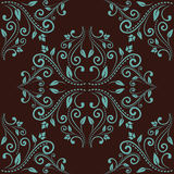 Floral damask seamless pattern background Royalty Free Stock Image