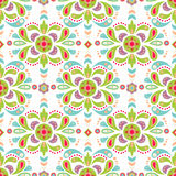 Floral damask seamless pattern background Stock Photos