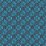 Floral dark blue lighted motive background pattern Royalty Free Stock Images