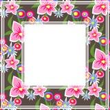Floral dark border Royalty Free Stock Photography