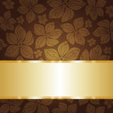 Floral dark brown  invitation background Royalty Free Stock Image