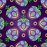 Floral dark violet seamless pattern Stock Photography