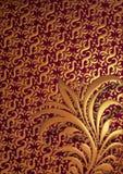 Floral de oro Fotos de archivo libres de regalías