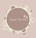 Floral decor circle Stock Image
