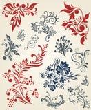 Floral decor collection Stock Photo