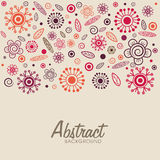 Floral decorated abstract background. Royalty Free Stock Images