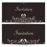 Floral decorated beautiful Invitations card. Stock Photography