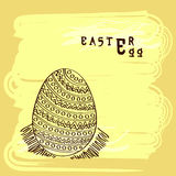 Floral decorated egg for Happy Easter celebration. Stock Photo