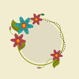 Floral decorated frame. Royalty Free Stock Images