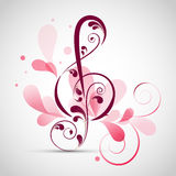 Floral decorated musical sign. Stock Image