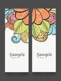Floral decorated website banners set. Royalty Free Stock Photo