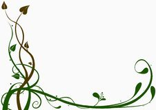 Floral decoration 04. Brown and green ornamental decoration Royalty Free Stock Images