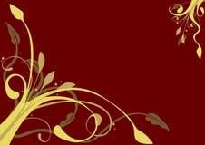 Floral decoration 07. Golden colors in ornamental decoration - floral theme Stock Photo