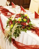 Floral decoration. Tables set for a festive dinner -  Floral decoration Stock Photo