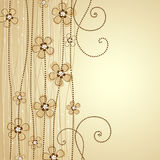 Floral decoration. The light brown background floral decoration 1 Royalty Free Stock Photos