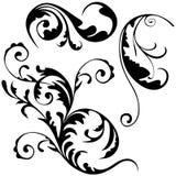 Floral decoration. 02 - black illustration as popular scroll vector Stock Image