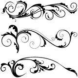 Floral decoration. 03 - black illustration as popular scroll vector Royalty Free Stock Photography