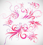 Floral decoration collection Stock Images