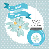 Floral decoration. Design, vector illustration eps10 graphic Stock Photography