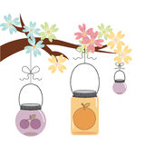 Floral decoration. Design, vector illustration eps10 graphic Royalty Free Stock Image