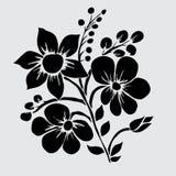 Floral decoration. Elegant decorative flowers, design element. Floral branch. Floral decoration for vintage wedding invitations, greeting cards, banners Stock Images