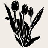 Floral decoration. Elegant decorative tulip flowers, design element. Floral branch. Floral decoration for vintage wedding invitations, greeting cards, banners Royalty Free Stock Images