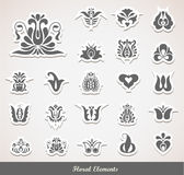 Floral Decoration Elements Stock Images