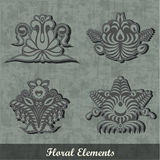 Floral Decoration Elements / Army style Stock Photo