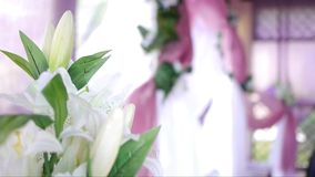 Floral decoration stock footage