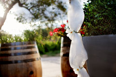 Floral decoration outdoor ceremony Royalty Free Stock Photography