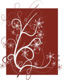 Floral decoration on red background Royalty Free Stock Photo