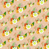 Floral decoration, seamless pattern Stock Photography