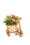 Floral decoration in the shape of bicycle white background. Floral decoration shape of bicycle white background Stock Images