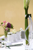 Floral decoration on the table Stock Images