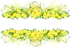 Floral decoration with yellow flowers Royalty Free Stock Photography
