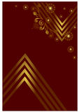 Floral decorations border background. Floral decorations border in maroon gold gradations illustration Royalty Free Stock Images