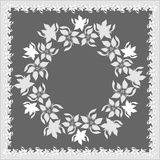 Floral decorations in gray Stock Images