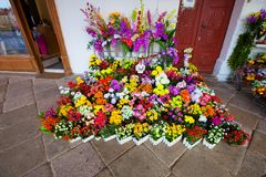 Floral decorations outside the shop Sicily Royalty Free Stock Photo