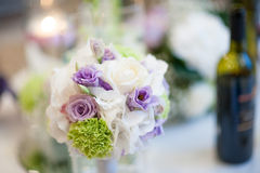 Floral decorations for a wedding. Beautiful floral decorations for a wedding Stock Photography