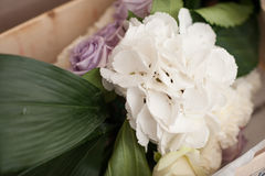 Floral decorations for wedding. In a box Royalty Free Stock Photos