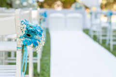 Floral decorations for wedding. Floral decorations for an outdoor wedding Royalty Free Stock Photo