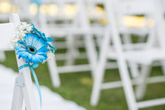Floral decorations for wedding. Floral decorations for an outdoor wedding Royalty Free Stock Image